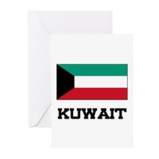 Kuwait Flag Greeting Cards (Pk of 10)
