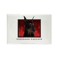 Doberman Pinscher Rectangle Magnet