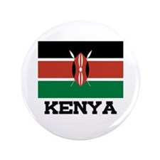 "Kenya Flag 3.5"" Button"