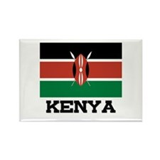 Kenya Flag Rectangle Magnet (10 pack)