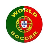 Portugal World Cup Soccer Ornament (Round)