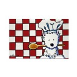 Westie Chef Rectangle Magnet