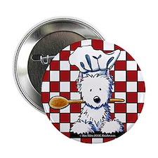 """Westie Chef 2.25"""" Button (10 pack)"""
