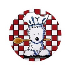 "Westie Chef 3.5"" Button"