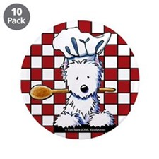 "Westie Chef 3.5"" Button (10 pack)"