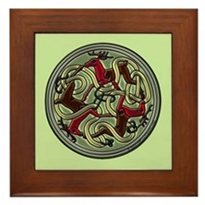 Celtic Deer Knotwork Framed Tile