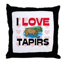 I Love Tapirs Throw Pillow
