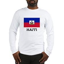 Haiti Flag Long Sleeve T-Shirt