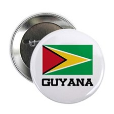 "Guyana Flag 2.25"" Button"