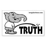 GOP Elephant and Truth bumper sticker
