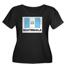 Guatemala Flag Women's Plus Size Scoop Neck Dark T