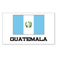 Guatemala Flag Rectangle Decal