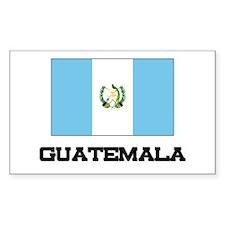 Guatemala Flag Rectangle Decal