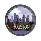 Houston 2 Wall Clock