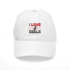 I Love Seals Baseball Cap