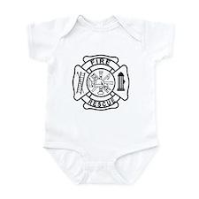 Firefighter Thin Red Line Infant Bodysuit