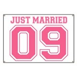 Just Married 09 (Pink) Banner