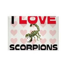 I Love Scorpions Rectangle Magnet