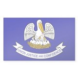 Louisiana State Flag Rectangle Sticker 10 pk)