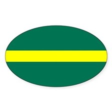 Blazer Thin Yellow Line Oval Decal