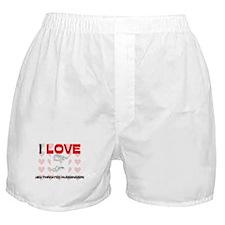 I Love Ruby-Throated Hummingbirds Boxer Shorts