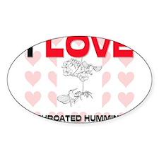 I Love Ruby-Throated Hummingbirds Oval Sticker