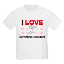 I Love Ruby-Throated Hummingbirds Kids Light T-Shi