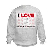 I Love Ruby-Throated Hummingbirds Kids Sweatshirt