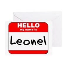 Hello my name is Leonel Greeting Card