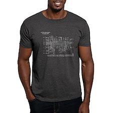 KZ750B3 Wiring Diagram (B/W, Upside-Down) T-Shirt
