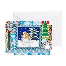Scrapbook St Bernard Christmas Greeting Card