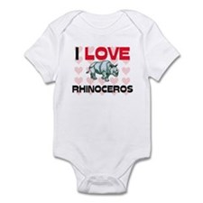 I Love Rhinoceros Infant Bodysuit
