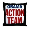 Obama Action Team Throw Pillow