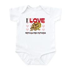 I Love Reticulated Pythons Infant Bodysuit