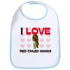 I Love Red-Tailed Hawks Bib