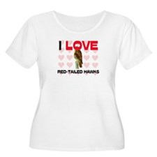 I Love Red-Tailed Hawks Women's Plus Size Scoop Ne
