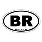 Blowing Rock NC Euro Oval Sticker