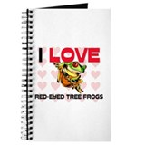 I Love Red-Eyed Tree Frogs Journal