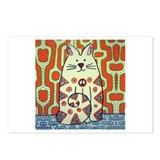 Peace Cat Original Funky Art Postcards (Package of