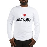 I LOVE MARYLAND Long Sleeve T-Shirt