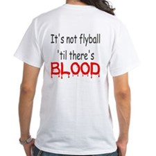 White Flyball t-Shirt First Blood