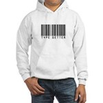 Type Setter Bar Code Hooded Sweatshirt