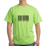 Type Setter Bar Code Green T-Shirt