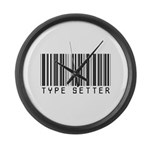 Type Setter Bar Code Large Wall Clock