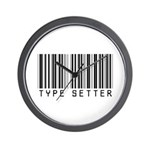 Type Setter Bar Code Wall Clock