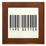 Type Setter Bar Code Framed Tile