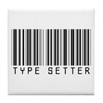 Type Setter Bar Code Tile Coaster