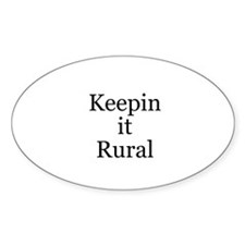 Keepin it Rural Oval Sticker (50 pk)