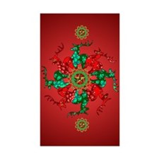Santa's Stars Rectangle Sticker 50 pk)