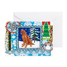 Scrapbook Irish Setter Christmas Greeting Cards (P